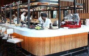 image of inside spanish restaurant in NYC - Boqueria.
