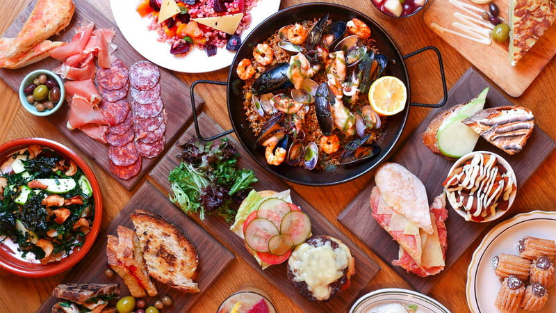 Image of Spanish food plater