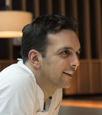 Executive Chef Marc Vidal looks upon Boqueria tapas bar and Spanish restaurant with a smile on his face.