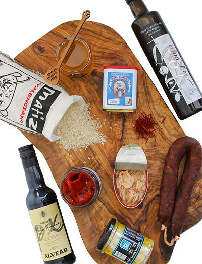 The essential Spanish Pantry kit from Market Hall Foods