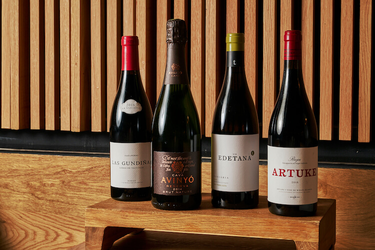 4 bottles of Spanish wine we love, and available at Boqueria for Thanksgiving meals!